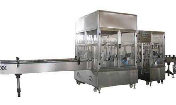 Ganap na Awtomatikong Liquid Soap Filling Machine Line