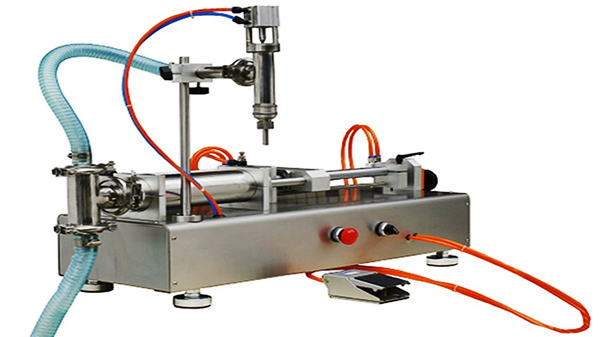 Ang Double Heads Pneumatic Cream Filling Machine 100-1000ml