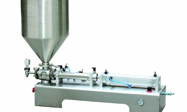 Ang Semi-Awtomatikong Calamine Lotion Paste / Machine ng Botong Piston Filling Machine